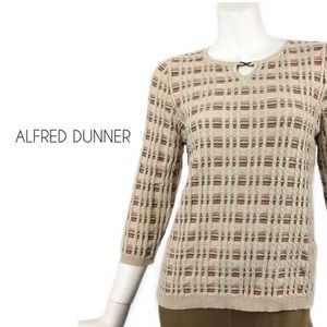 Alfred Dunner | Cream Orange Cable Knit Sweater